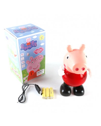 Муз. свинка 58639A батар., муз, МП3, свет, в коробке 12*11,5*20 см