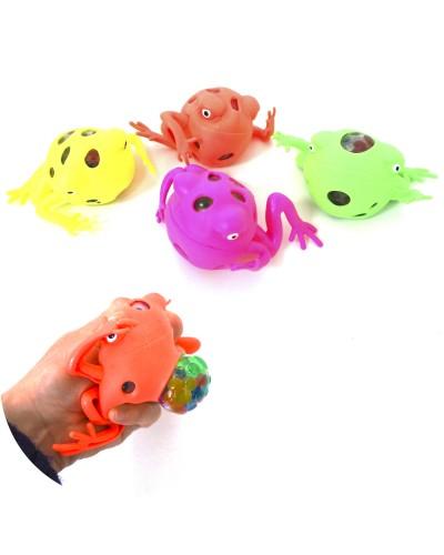 Антистресс H06-12 лягушки, микс цветов, 12шт в дисплей боксе25,5*20*6см цена за бок