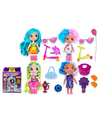 """Кукла """"H"""" DH2212B 4 вида,кукла-сюрприз с аксессуарами, в кор.23*8*18 см"""
