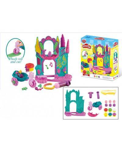 """Набор для творчества F018-23 """"Сказочный замок"""", пластилин, фигурки, в коробке 25*27,5*6см"""