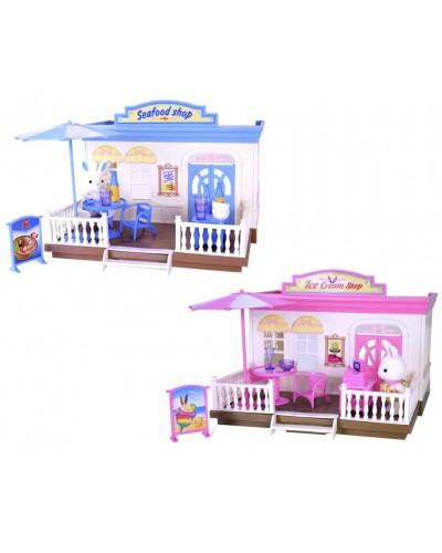 Игровой набор магазин SF668/IC688 2 вида, домик, кролик, мебель, в коробке 26*21*20см