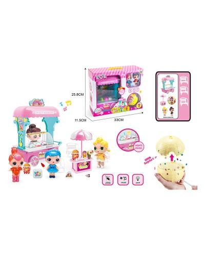 Игровой набор 120 Ice cream car, в компл. 2 фигурки, киоск с мороженным+Lol Confetti Pop