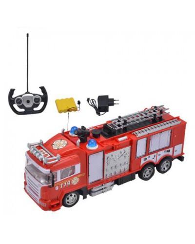 Пожарная машина аккум р/у 666-192A в кор. 43*13*17см