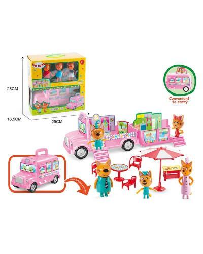 Игровой набор Три Кота M-8805 герои, автобус, в кор. 28*16,5*29см