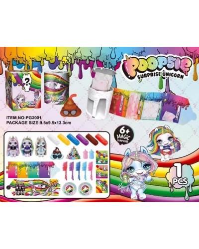 Игровой набор PG2001 единорожка Poopsie Unicorn, фигурка 10*6см, аксессуары, пластилин, в кор