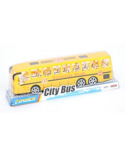 Автобус инерц. TQ123-43A  под слюдой 22*6*4,5см