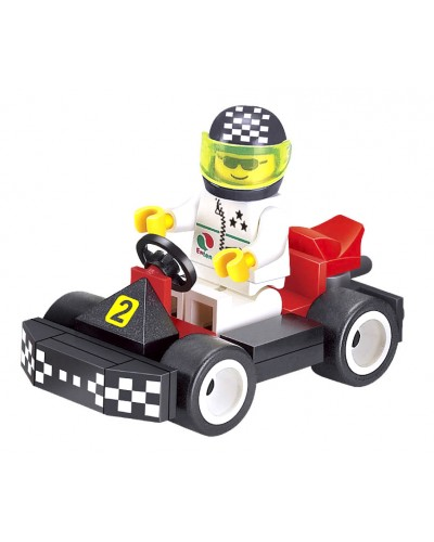 """Конструктор """"Brick"""" 1204 """"Гонки"""" человечек на машинке, 33дет., в разобр. кор. 9,5*7*4,5см"""