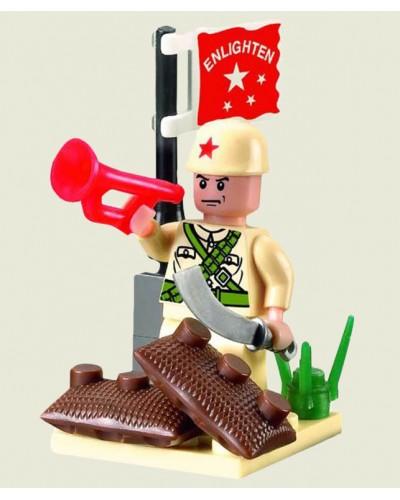 """Конструктор """"Brick"""" 807 """"Военные"""" 17дет., 6+ лет, в собр. кор. 7*4,5*7,5см"""