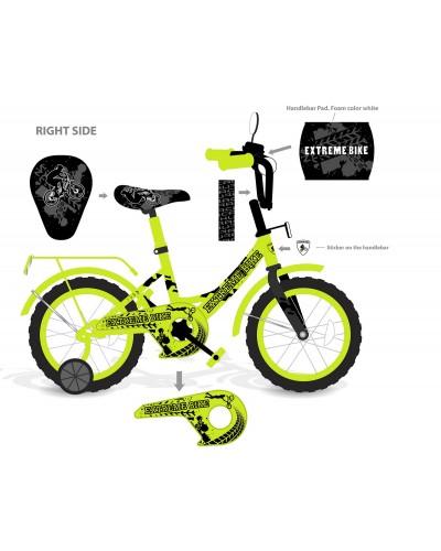 "Велосипед 2-х колес 12"" 181232 со звонком, зеркалом, без ручного тормоза"