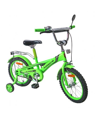 Велосипед 2-х колес 16'' 171636 со звонком, зеркалом, руч. тормоз
