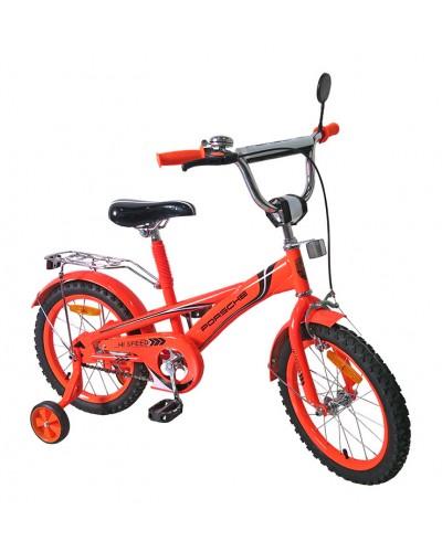 Велосипед 2-х колес 16'' 171637 со звонком, зеркалом, руч. тормоз