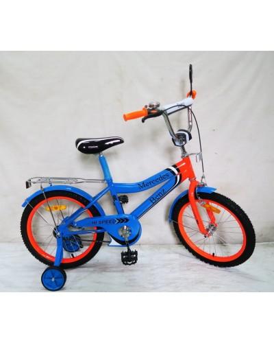 Велосипед 2-х колес 20'' 182039 со звонком, зеркалом, без доп. колес