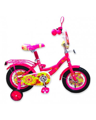 "Велосипед 2-х колес 12"" 191205 со звонком, зеркалом, без ручного тормоза"
