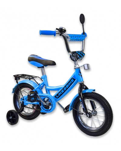 "Велосипед детский 2-х колёсный 12"" 191213 Like2bike RALLY, голубой, без переднего тормоза"
