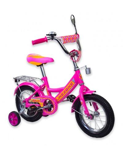 "Велосипед детский 2-х колёсный 12"" 191218 Like2bike RALLY, фуксия, без переднего тормоза"