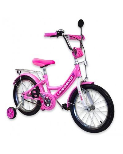 """Велосипед детский 2-х колёсный 14"""" 191416 Like2bike RALLY, розовый"""