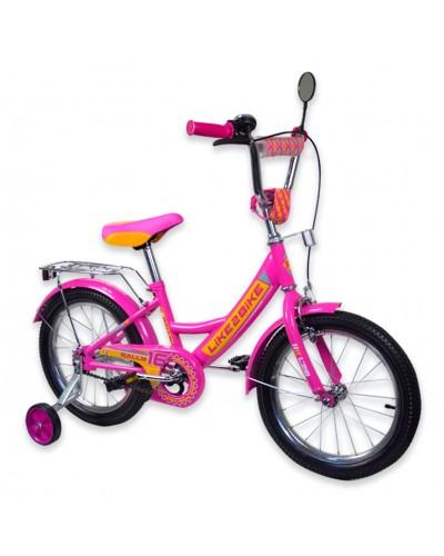 "Велосипед детский 2-х колёсный 14"" 191418 Like2bike RALLY, фуксия"