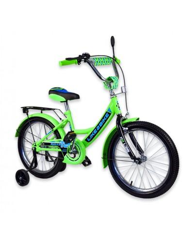 """Велосипед детский 2-х колёсный 18"""" 191814 Like2bike RALLY, салатовый"""