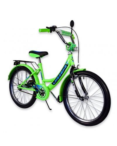 """Велосипед детский 2-х колёсный 20"""" 192014 Like2bike RALLY, салатовый, без тренировочных колёс"""