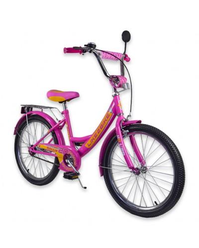 """Велосипед детский 2-х колёсный 20"""" 192018 Like2bike RALLY, фуксия, без тренировочных колёс"""