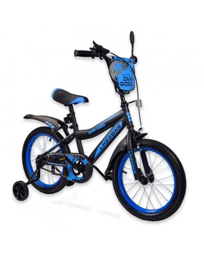 "Велосипед детский 2-х колёсный 18"" 191820 Like2bike Dark Rider, чёрно/синий"