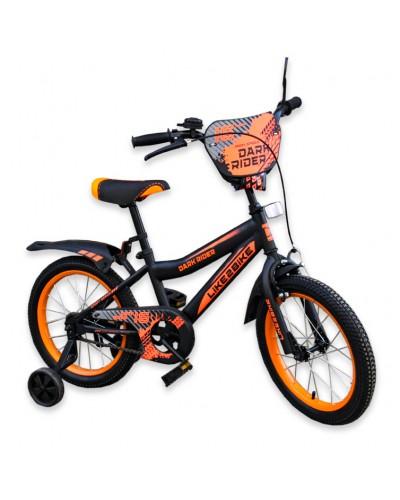 """Велосипед детский 2-х колёсный 18"""" 191822 Like2bike Dark Rider, чёрно/оранжевый"""