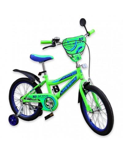 """Велосипед детский 2-х колёсный 16"""" 191627 Like2bike Active, салатовый"""