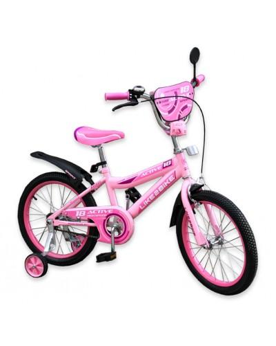 """Велосипед детский 2-х колёсный 16"""" 191628 Like2bike Active, розовый"""