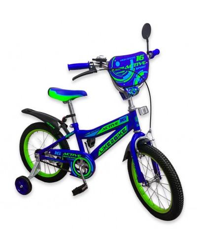 """Велосипед детский 2-х колёсный 18"""" 191825 Like2bike Active, синий"""