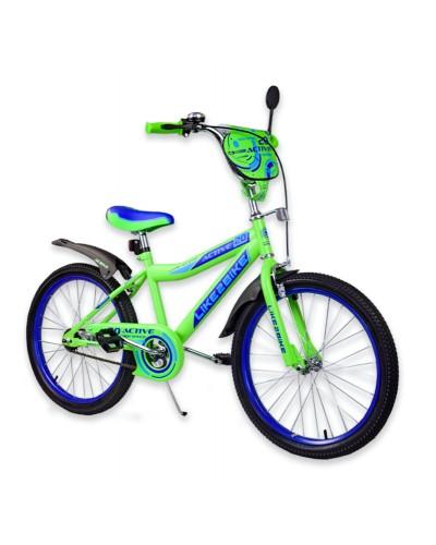 """Велосипед детский 2-х колёсный 20"""" 192027 Like2bike Active, салатовый, без тренировочных колёс"""