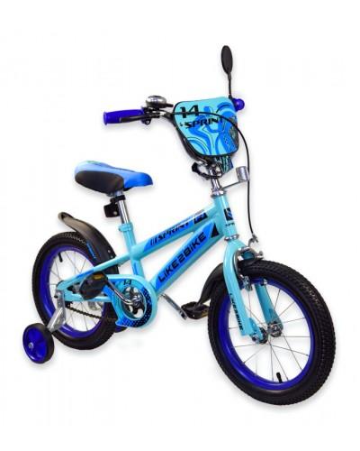 """Велосипед детский 2-х колёсный 16"""" 191634 Like2bike Sprint, голубой"""