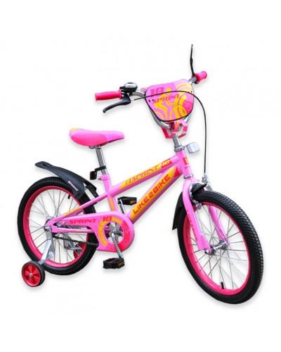 """Велосипед детский 2-х колёсный 18"""" 191831 Like2bike Sprint, розовый"""