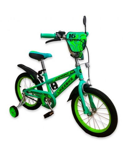 """Велосипед детский 2-х колёсный 18"""" 191833 Like2bike Sprint, зелёный"""
