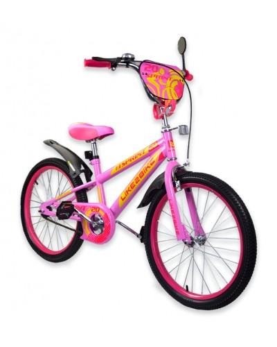 """Велосипед детский 2-х колёсный 20"""" 192031 Like2bike Sprint, розовый, без тренировочных колёс"""