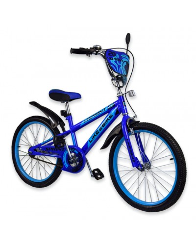 """Велосипед детский 2-х колёсный 20"""" 192035 Like2bike Sprint, синий, без тренировочных колёс"""