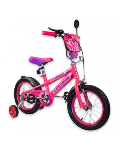 "Велосипед детский 2-х колёсный 14"" 191420 Like2bike Sprint, фуксия"
