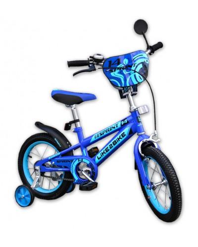 "Велосипед детский 2-х колёсный 14"" 191423 Like2bike Sprint, синий"