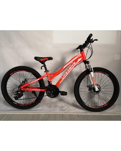 Велосипед 2-х колес 24'' A192005 диск. тормоза, без доп. колес