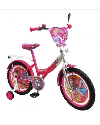 "Велосипед 2-х колес 12"" 181201 со звонком, зеркалом, без ручного тормоза"