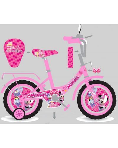 Велосипед 2-х колес 14'' M1405 со звонком, зеркалом, руч.тормоз