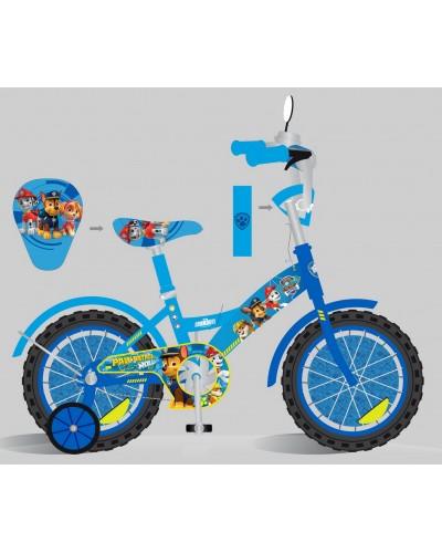 Велосипед 2-х колес 16'' PP1603 со звонком, зеркалом, руч.тормоз