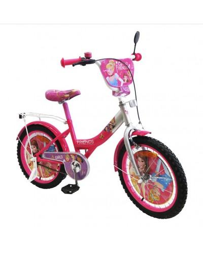 Велосипед 2-х колес 20'' 182001 со звонком, зеркалом, без доп.колес