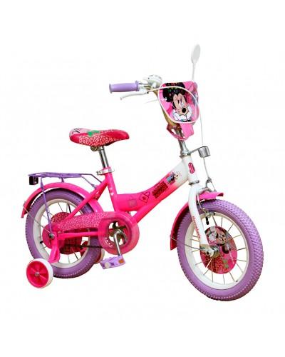 Велосипед 2-х колес 14'' 191405 со звонком, зеркалом, руч.тормоз