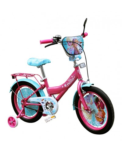 Велосипед 2-х колес 16'' 191607  со звонком, зеркалом, руч.тормоз