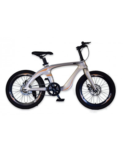 Велосипед 2-х колес 20'' M20410 ЗОЛОТО, рама из магниевого сплава, подножка,руч. тормоз, без доп