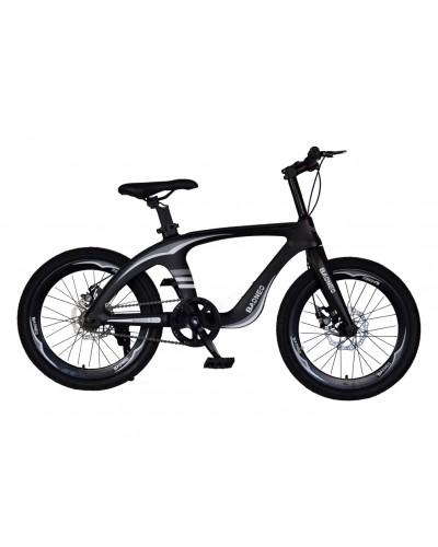 Велосипед 2-х колес 20'' M20412 ЧЕРНЫЙ, рама из магниевого сплава, подножка, руч.тормоз, без доп
