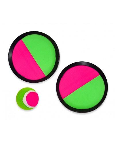 Игра с мячиком - липучкой FB18106 в сетке 19 см