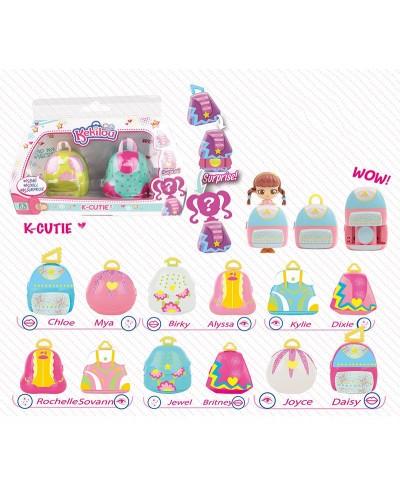 "Кукла ""K"" LM2721 микс видов, куколка-сюрприз, сумочка превращается в куклу, кор. 18*7*12см"