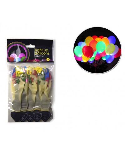 Шар 1545-lightup 5 видов, светится, в пакете 12,5*22,5см