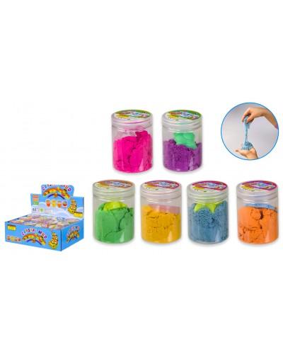 """Игра """"Живой песок"""" SL1918 Cotton Sand, в наборе формочка, 4 цвета, 7,5*5,5см, 12шт в дисплей"""